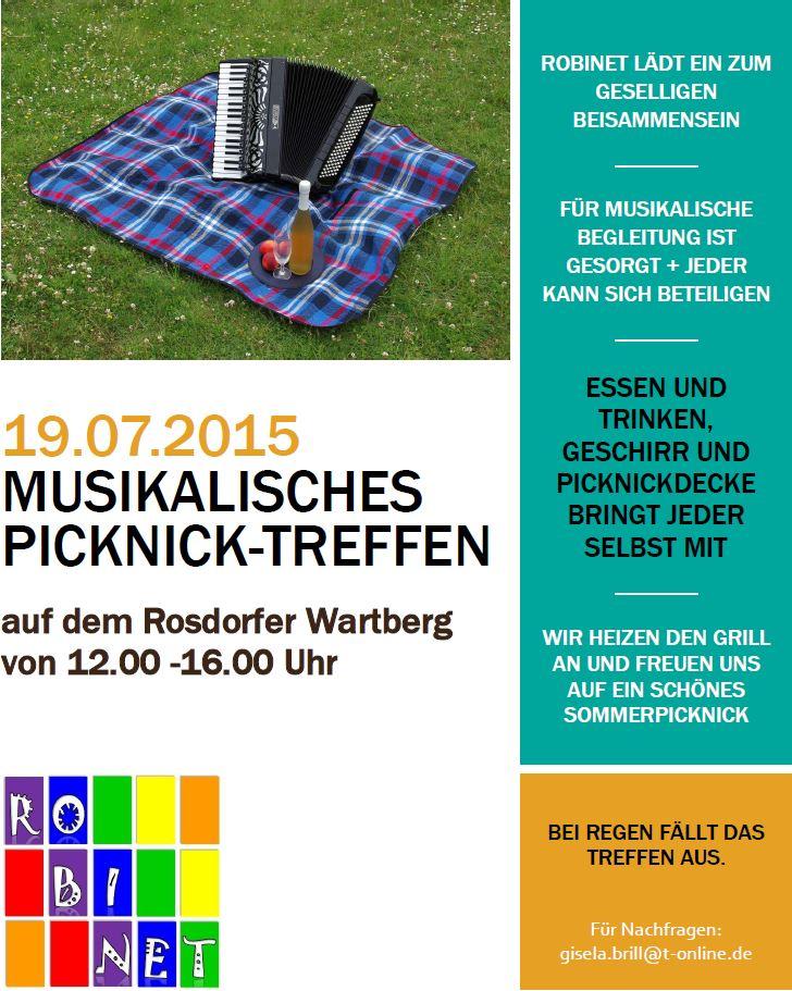 Plakat-Musikalisches Picknick