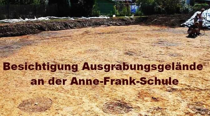 Sonderführung über das Ausgrabungsgelände an der Anne-Frank-Schule